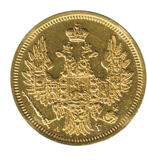 5 rubel gold russland 1852 nikolaus i 1825 1855 feingold. Black Bedroom Furniture Sets. Home Design Ideas